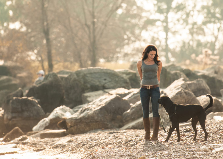 anna and dog